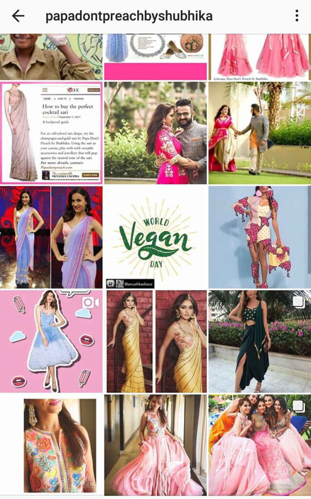 Indian Fashion Designers on Instagram Papa Dont Preach
