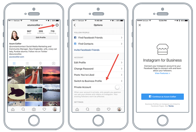 Instagram Business Account Business Profiles
